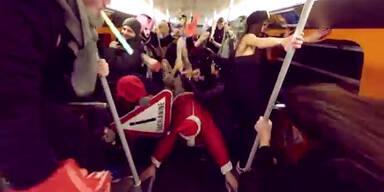 Harlem Shake in der Wiener U-Bahn