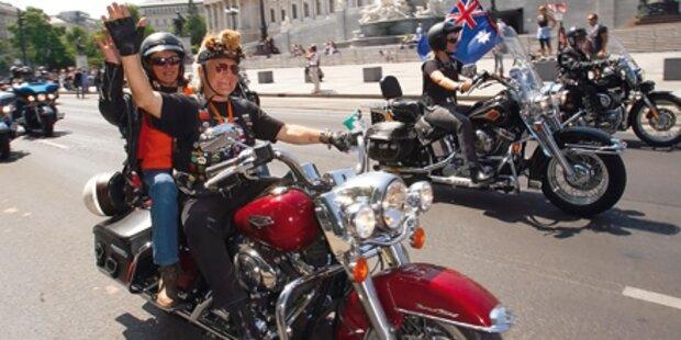 Harley-Fans rollen nach Wien