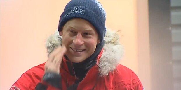 Harry startet sein Rennen zum Südpol