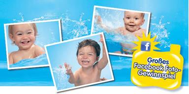 Huggies® Little Swimmers® sucht das Spaßgesicht.
