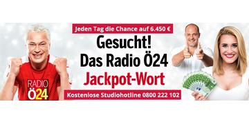 Mega-Gewinnspiel: Radio-Ö24-Jackpot: 6450 € zu gewinnen