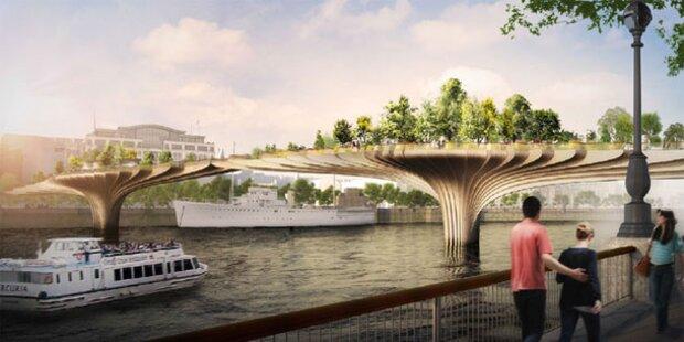 London plant grüne Brücke über Themse