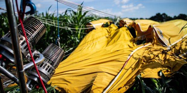 Heißluftballon abgestürzt: Schwerverletzte