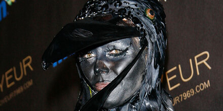 Heidi Klum feierte ganz in schwarz
