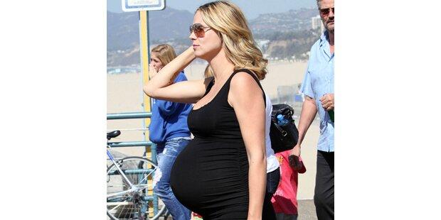 Heidi Klum: Ihr Baby-Bauch wird zur Last