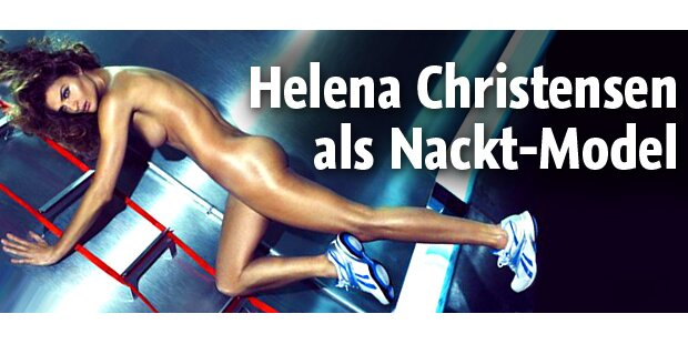 Helena Christensen mit 41 nackt für Reebok