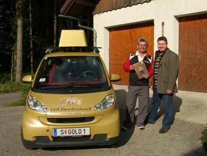 Herbert Höller aus Salzburg mit Torsten Kaffka vom Gold Depot Salzburg