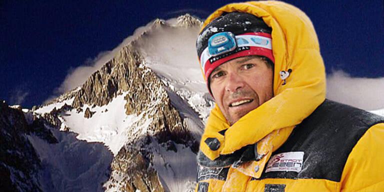 Team sucht nach Bergsteiger Göschl