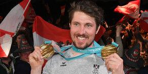 2. Goldmedaille: Hirscher lässt sich feiern