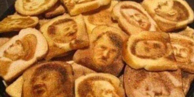 Neo-Nazi brannte Hitler-Gesicht in Toastbrot