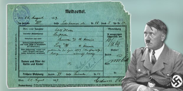 Hitlers Wiener Meldezettel wird versteigert