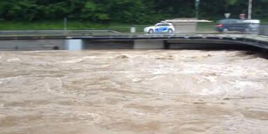 Lilienfeld knapp vor der Überflutung