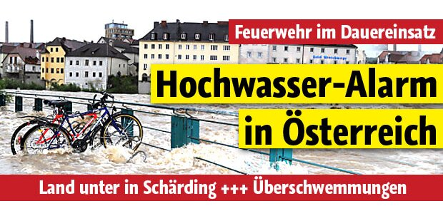 Hochwasser-Alarm in Österreich