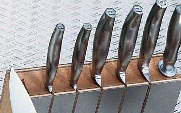 Hochwertige Messer von Hand spülen