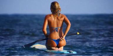 Surf-Beauty postet Nackt-Selfie