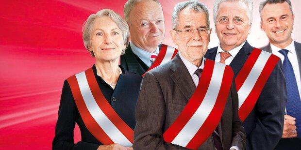 Hofburg-Wahl: Rennen um Stimmen