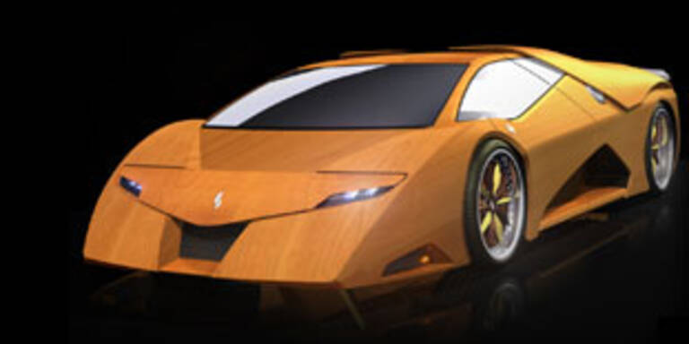 Erster Supersportwagen komplett aus Holz