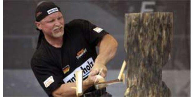Deutscher gewinnt bei Holzfäller-EM in Tirol