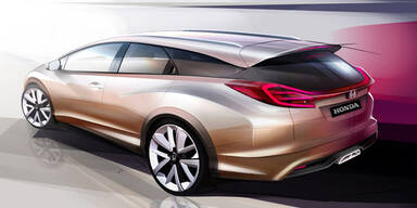 Honda stellt den Civic Kombi vor