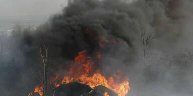Heli geht in Flammen auf - 5 Tote