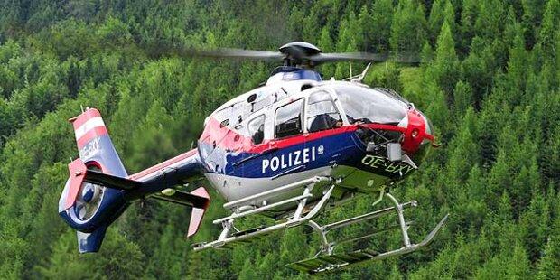 Heli-Suche nach Räuber im Burgenland