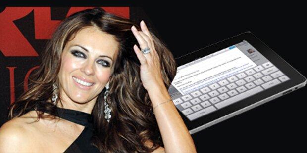 Liz Hurley ist zu dumm fürs iPad