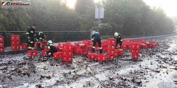 Lkw Unfall in Aschbach-Markt