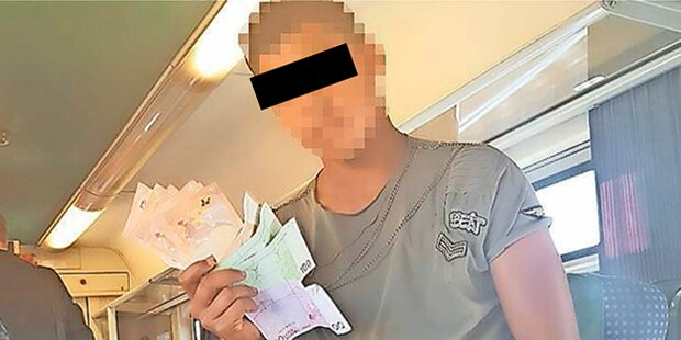 Bettler-Bande protzt mit Bargeld
