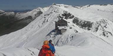 Erschöpfter Bergsteiger geborgen