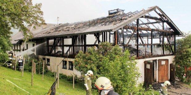 3. Brand in drei Tagen: Hof zerstört