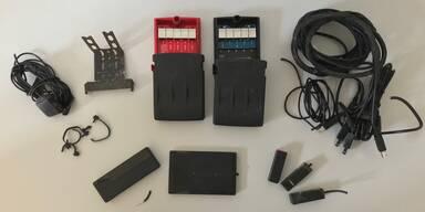 Laserblocker auf der A10 sichergestellt