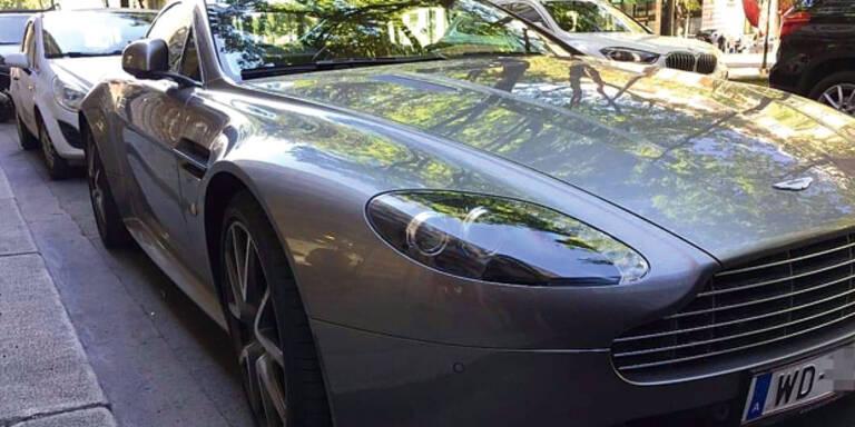 Diese Protz-Diplomaten rollen mit Luxusauto durch Wien