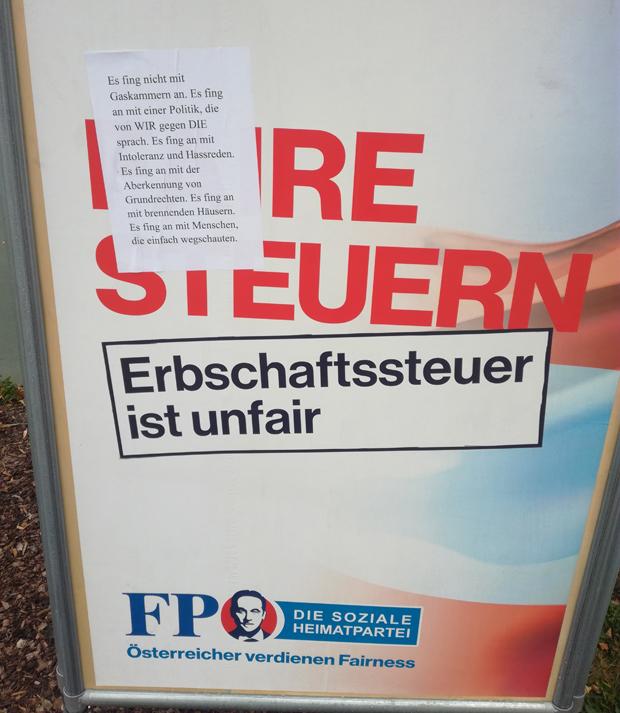 FPÖ Plakat