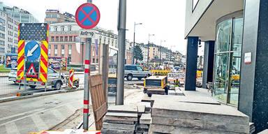 Radweg-Bau