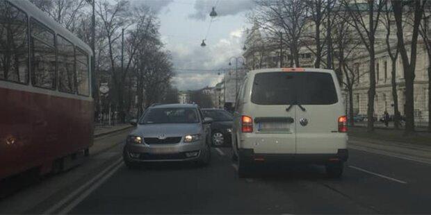Völlig verrückt! Zwei Geisterfahrer auf Wiener Ringstraße