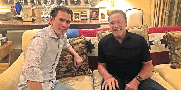 Kurz trifft Arnie und Apple-Boss