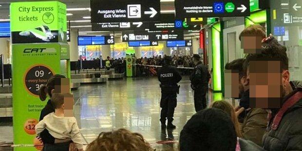 Entwarnung nach Bomben-Alarm am Flughafen Wien