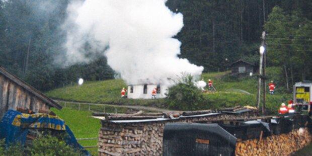 Tiroler zündete sein eigenes Haus an