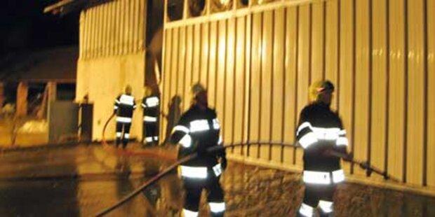 Großbrand in Hack-Schnitzel-Anlage