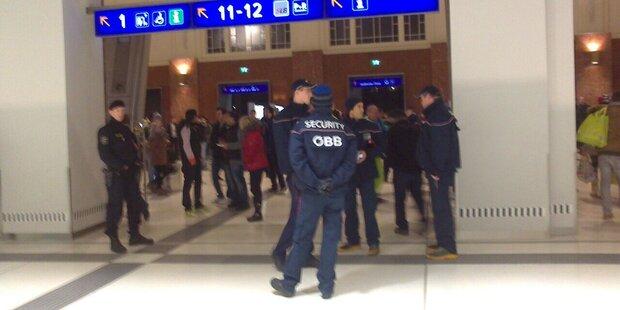 Bombendrohung am Salzburger Hauptbahnhof