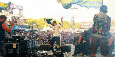 Bierpartei feierte größte Wahlparty auf Festival