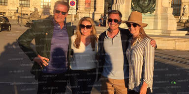 Arnie in Wien Klima-Gipfel