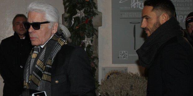 Karl Lagerfeld präsentiert in Salzburg