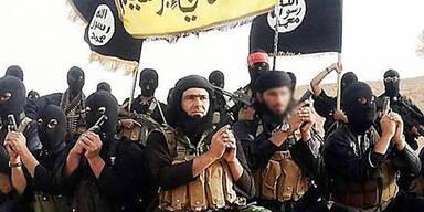 ISIS-Terroristen rufen im Irak und in Syrien das Kalifat aus.