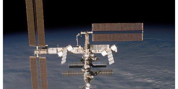 Arbeitseinsatz der ISS-Astronauten im freien All