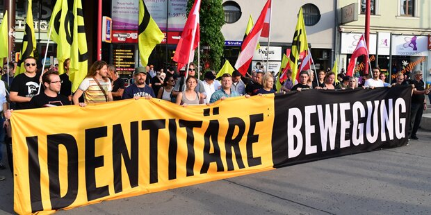 Identitären-Kundgebung am Kahlenberg