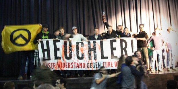 FPÖ-Politiker fand Krawalle der Identitären gut