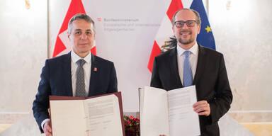 Ignazio Cassis und Alexander Schallenberg