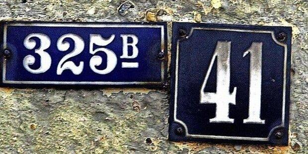 Neues System der Hausnummern