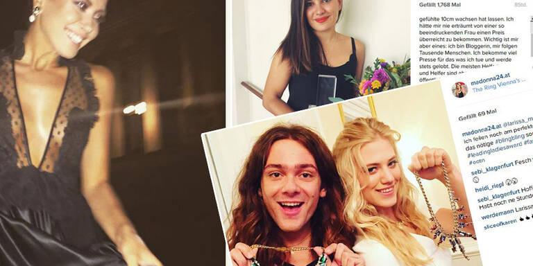 Auf Instagramm gab es witzige, private, emotionale und starke Einblicke in die glamouröse Preisverleihung